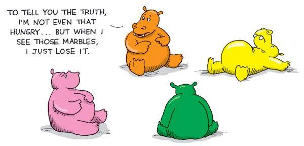 Hungry Hungry Hippos Cartoon