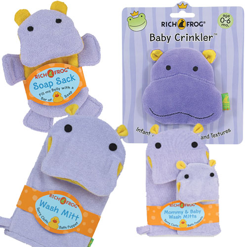 Bath Mitts and Baby Crinkler Toy
