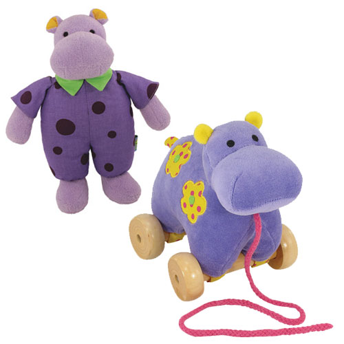 Kenny the Hippo Stuffed Animal Friend and Hippo Pull Toy