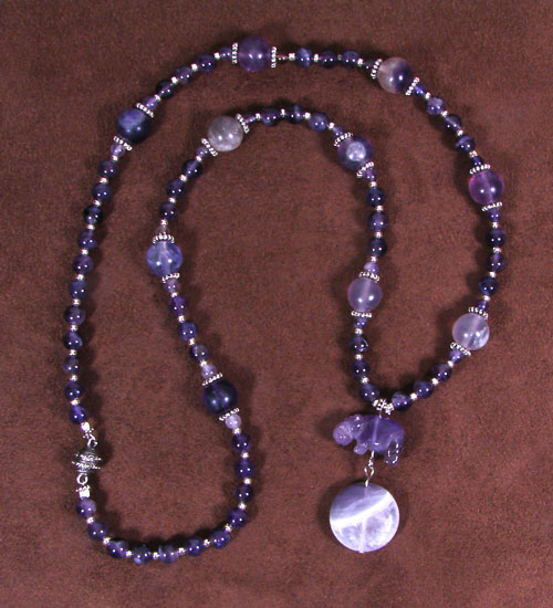 Purple Hippo Necklace