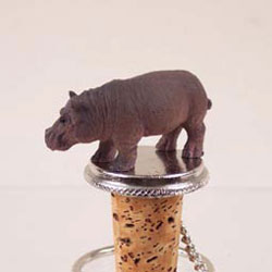 Hippo Wine Bottle Stopper