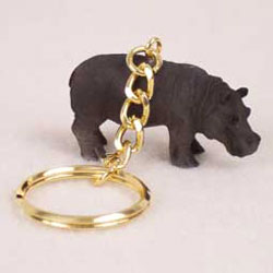 Hippo Key Ring