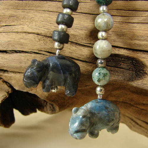 Shades of Blue Faux Lariat