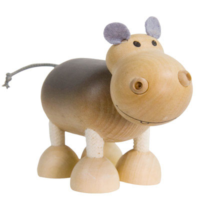 Wooden Hippo Toy by Anamalz