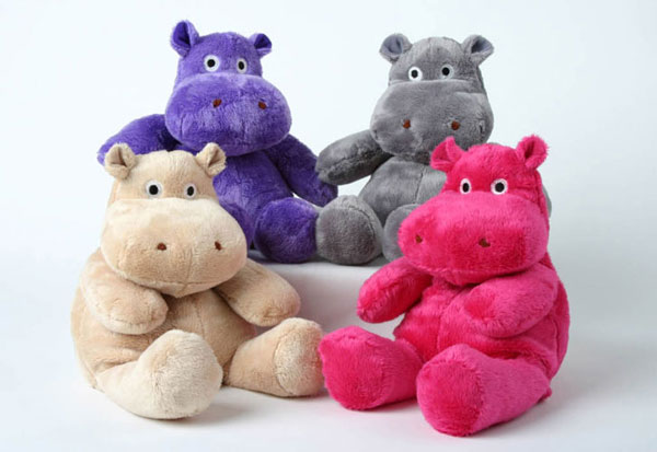 Microwaveable Lavender Stuffed Hippo
