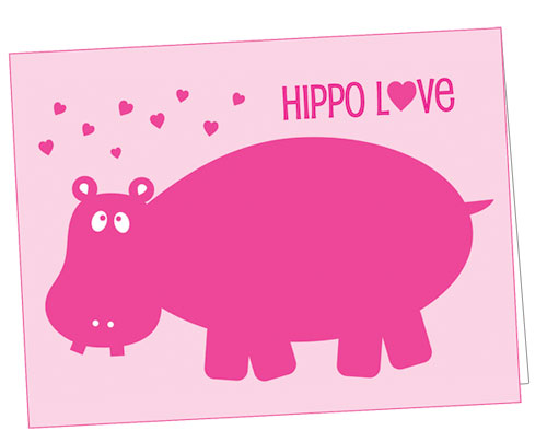 Hippo Love Valentine's Day Card