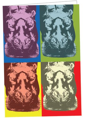 Warhol Hippo Notecard
