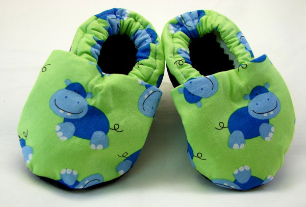 Hippo Patterned Slip-on Baby Shoes