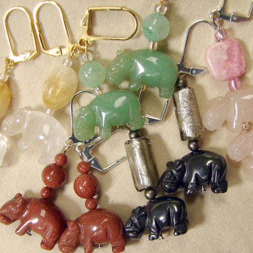 A Bevy Of Hippo Earrings