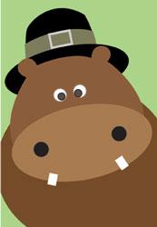 Thanksgiving Hippo