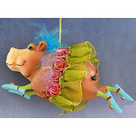 Ballerina Hippo Ornament
