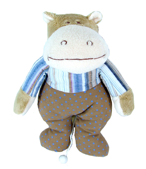 Musical Hippo Pull Toy for Baby or Child