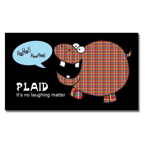 Plaid Hippo Magnet