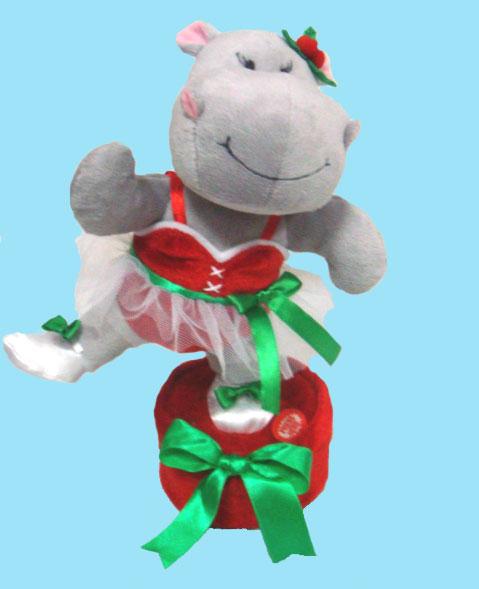 Singing & Dancing Ballerina Christmas Hippo