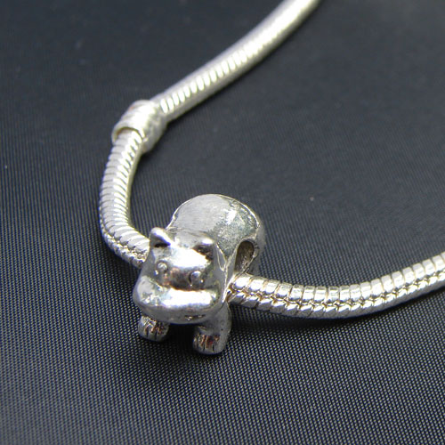 Cable Style Silver Plated Bracelet for Pandora, Biagi, and Troll Large Hole Beads
