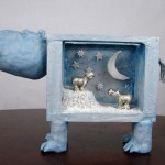 One-Of-A-Kind Hippo Sculpture Art Piece