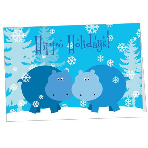 Hippo Holidays Greeting Card