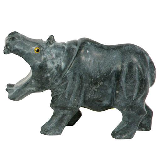 Peruvian Hippopotamus Soapstone Figurine